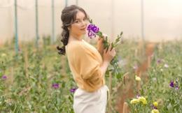 Lý Nhã Kỳ mặc giản dị vẫn xinh đẹp, khoe vườn hoa tràn ngập màu sắc tại Đà Lạt