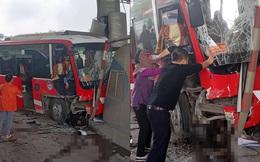 Xe khách đâm trạm thu phí nát đầu, 12 người trên xe hoảng loạn - ảnh hiện trường liên tục được chia sẻ
