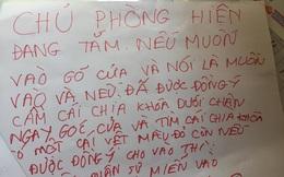 Tấm biển ngoài phòng của cô bé 12 tuổi, đọc xong người ta giật mình vì 1 chi tiết