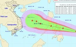 Bão mạnh đang hướng vào Biển Đông