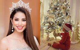 Hoa hậu Phạm Hương công khai đã sinh con, lần đầu khoe hình ảnh con trai 1 tuổi