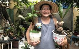 Biến quả dừa khô bỏ đi thành bonsai chuột tiền triệu, chàng thanh niên lãi đậm dịp Tết 2020