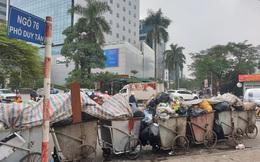 Rác thải ùn ứ ở nội thành Hà Nội sau khi dân Sóc Sơn chặn xe rác