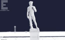 Bức tượng chàng David in 3D này chỉ cao đúng 1mm