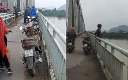 Nam thanh niên bỏ lại xe máy, nhảy xuống sông tự tử bất chấp mọi người khuyên can lúc lâu