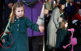Bắt chước Công nương Kate hành lễ với Nữ hoàng Anh, Công chúa Charlotte được dân mạng khen hết lời vì quá đáng yêu