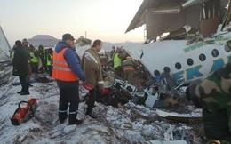 [Video] Hiện trường vụ rơi máy bay Bek Air của Kazakhstan