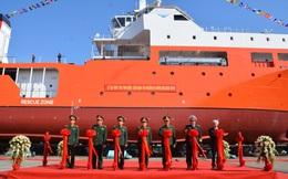 Đại tướng Ngô Xuân Lịch dự Lễ hạ thủy tàu tìm kiếm, cứu nạn tàu ngầm đa năng MSSARS 9316