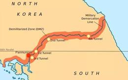 Cận cảnh khu phi quân sự liên Triều nhìn từ phía Triều Tiên