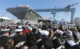 """Hải quân Mỹ làm """"lễ rửa tội"""" cho tàu sân bay USS John F. Kennedy"""