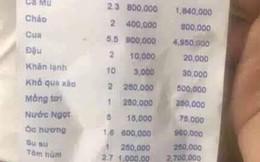 Xử phạt 750 nghìn đồng nhà hàng bị tố chặt chém du khách dĩa mồng tơi 250 nghìn đồng