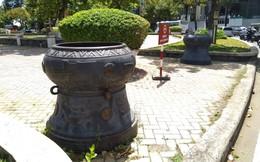 Lư hương trước tượng đài Trần Hưng Đạo được di dời về đền thờ Đức thánh Trần