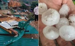 Hình ảnh mưa đá khiến nhiều ngồi nhà sập mái, hư hỏng nặng ở Sơn La cuối tuần qua