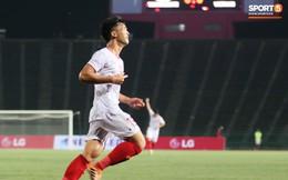 Trần Danh Trung bật khóc nức nở khi ghi bàn thắng may mắn cho U22 Việt Nam