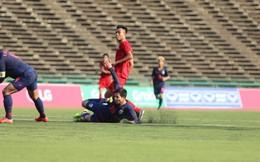 TRỰC TIẾP U22 Việt Nam 0-0 U22 Thái Lan: Khung thành U22 Thái Lan chao đảo