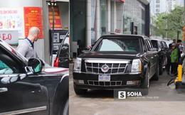 """Nhân viên cây xăng Hà Nội kể chuyện đổ nhiên liệu cho """"Quái thú"""" của ông Trump"""
