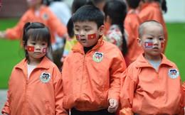Học sinh trường mẫu giáo Việt Triều háo hức đón phái đoàn Triều Tiên tới thăm
