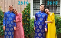 Tăng Thanh Hà khoe ảnh vợ chồng, cư dân mạng phát hiện Louis Nguyễn 2 năm vẫn 'trung thành' 1 bộ áo dài