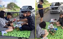 CSGT lấy lời khai người livestream ăn nhậu trên cao tốc Nội Bài - Lào Cai trưa mùng 2 Tết