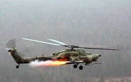 Cận cảnh đặc nhiệm Nga điều chỉnh hỏa lực trực thăng diệt IS ở Hama
