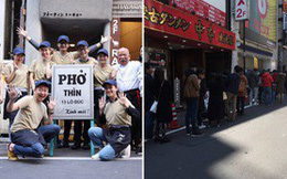 Xôn xao hình ảnh phở Thìn Lò Đúc ở Tokyo, khách xếp hàng đông nườm nượp