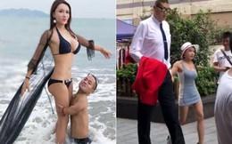 Chia tay bạn trai 1m, Cung Nguyệt Phi hẹn hò tình mới cao 2m38, rất nổi tiếng trên mạng xã hội