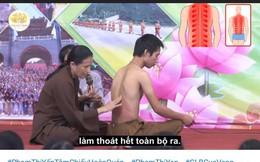 """Sự thật cách chữa bệnh đau lưng bằng vỗ dầu của bà Yến chùa Ba Vàng: BS nói """"thót tim"""""""