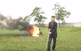 """Tung clip đốt xe máy khoe dân mạng, Khá Bảnh bị công an gặp """"làm việc"""""""