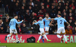 Giành thắng lợi quan trọng, Man City tạm chiếm ngôi đầu Premier League của Liverpool