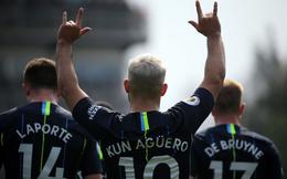 Kun Aguero rực sáng, Man City hạ gọn đối thủ để đòi lại ngôi đầu