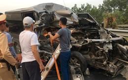 Một cán bộ công an tử vong trong vụ xe khách đâm xe container trên cao tốc Pháp Vân – Cầu Giẽ