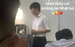 Bị học sinh chụp lén trong giờ học, thầy giáo khiến dân mạng xôn xao vì quá dễ thương