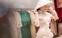 Tuyết Nga khoe vóc dáng chuẩn khi đi thử đồ cho cuộc thi Hoa hậu Áo dài Việt Nam