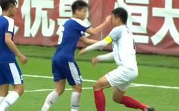 Đội trưởng U17 Hà Nội đấm thẳng mặt, khiến cầu thủ Trung Quốc phải khâu 6 mũi