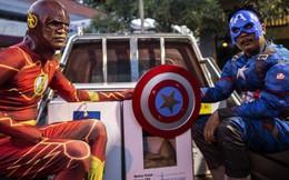 Các siêu anh hùng Avengers bảo vệ cuộc bầu cử ở Indonesia