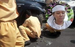 """Nước mắt người vợ trẻ ở đám tang Đại úy CSGT bị chèn ngã: """"Tôi nói dối con là ba đang ngủ"""""""