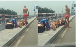 """Nằm tắm nắng 40 độ ở sảnh sân bay Nội Bài, nhóm """"Tây ba lô"""" gây tranh cãi trên MXH"""