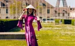 Dàn mẫu Pháp xinh đẹp, duyên dáng khi diện áo dài của NTK người Việt