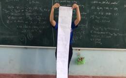 Hình ảnh chiếc đề cương dài 2-3m khiến nhiều học sinh choáng váng khiếp sợ mùa thi học kỳ trước mắt