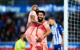 """""""Để dành"""" Messi, Barca vẫn thắng dễ để tiến sát đến ngày đăng quang ở La Liga"""