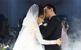 Lần hiếm hoi bà xã kém 19 tuổi của NSND Trung Hiếu nói lời ngọt ngào với chồng, chú rể không giấu được niềm hạnh phúc