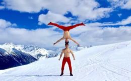 Anh em Quốc Cơ - Quốc Nghiệp diễn xiếc trên núi tuyết Canada, quyết tâm chinh phục cái lạnh -10 độ C