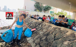 Đi dọn rác ở sông, cô gái gây tranh cãi khi chỉ trích gần 40 người đàn ông không phụ giúp