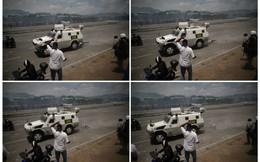 24h qua ảnh: Xe quân sự chạy qua người biểu tình trên đường phố Caracas