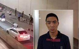 Bỏ chạy sau tai nạn ở hầm Kim Liên, tài xế xe Mercedes nói 'đi tìm biển số bị rơi'