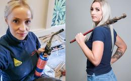 Bà mẹ một con được phong là thợ sửa ống nước quyến rũ nhất nước Anh khiến cánh đàn ông cũng phải nể vài phần