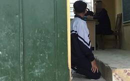 Xôn xao hình ảnh nam sinh lớp 9 bị cô giáo bắt quỳ gối ngay trong lớp học