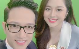 Sau sự cố lộ nội y trên sóng truyền hình, BTV Diệu Linh khéo léo dùng sticker che ngực khi chụp chung với Chí Nhân