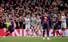 CLIP: Cận cảnh siêu phẩm đá phạt cháy lưới Liverpool của Messi