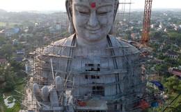 24h qua ảnh: Tượng phật khổng lồ được xây dựng tại chùa ở Hà Nội
